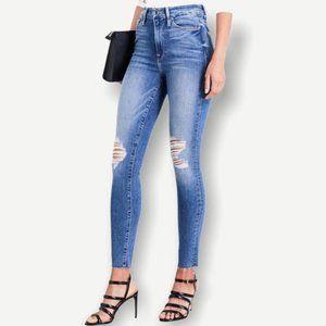 Good American Good Waist Raw High Rise Jeans 00 24